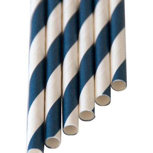 "Papiertrinkhalme Smoothie ""Lang"" Blau (8x250mm)"