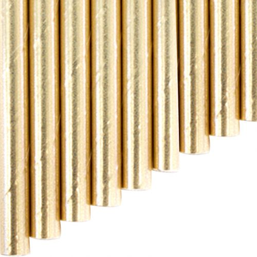 Paper FLEX Straw - gold